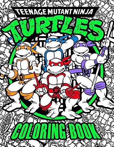 Teenage Mutant Ninja Turtles Coloring Book, Paperback (100 pages)