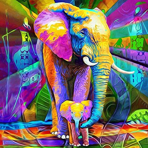 Diopn 5D diamant schilderij olifant in volle kleur diamant mozaïek koop je kunstdiamanten afbeeldingen diamant borduurwerk diersymbolen (ronde diamanten 30 x 40) 30*40