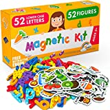 Foam Magnets and Magnetic Letters for Toddlers and Kids - ABC Alphabet Magnets for Refrigerator and Dry Erase Board - Baby Magnets for Fridge and Whiteboard - Ideal for Kids!