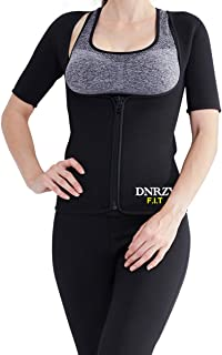 DNRZY F.I.T Women Sauna Vest Hot Sweat Waist Trainer Vest Weight Loss Body Slimming Shapewear Workout Vest for Yoga, Gym, Ruining, Pilates