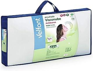 Velfont - Almohada de viscoelástica Visconube con Tratamiento Antiácaros (135 cm)