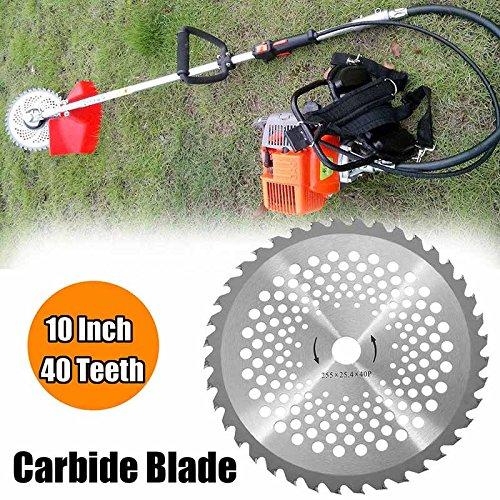 Alftek 10 inch 40 T tanden carbide tip messen voor bosmaaiers trimmer boring diameter 25,4 mm