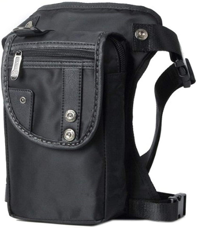 Waterproof Nylon Lightweight Men Waterproof Oxford Leg Bag Military Tactical, Black