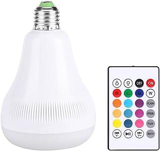 Zerodis Bombilla Bluetooth Altavoz, 18W RGB E27 Color Cambio LED Música Bombilla con Mando a Distancia inalámbrico Luces de Ambiente de Fiesta