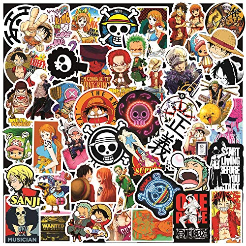 One Piece Stickers 100 Pack Luffy Anime Stickers for Teens Kids Waterproof Vinyl Stickers for Water Bottles Laptop