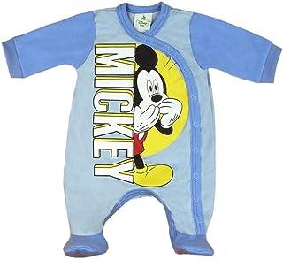 Kleines Kleid Baby-Strampler Junge Disney Mickey Mouse Schlafanzug Pyjama Wickel-Strampler in Größe 56 62 68 74 Baumwolle für Neugeborene 0 3 6 9 Monate Geschenk Baby-Outfit