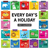 """TF Publishing 2021 Every Day's A Holiday Monthly Wall Calendar - Appointment Tracker - Contacts/Notes - Home or Office Planning - Matte 12""""x12"""""""