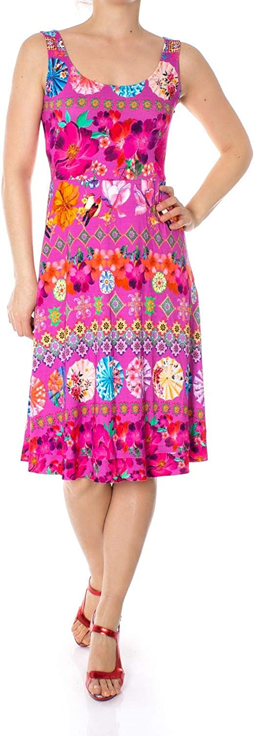 Desigual Women's 19SWVK52FUCHSIA Fuchsia Viscose Dress