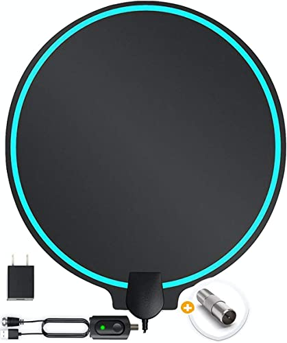 All-New 2020 Indoor HDTV Digital Antenna 4K HD Freeview Life Local Channels All Type Television Switch Amplifier Signal Booster to 150 Mile, Professional Round Shape product image