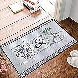 QDYLM Alfombra de baño de Microfibra esponjosa,Reloj Jarrón Modern Simply Family Flowers Moderno alfombras de Ducha de Suave Absorbente de Agua, 50x80 cm