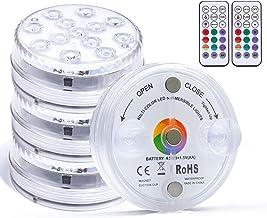مصابيح LED غاطسة مع جهاز تحكم عن بعد لاسلكي، أكواب شفط، 13 مصباح ليد مقاوم للماء تحت الماء مع مغناطيس، إضاءة حمام السباحة ...