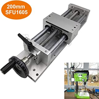 Linear Stage Actuator 200mm Manual Sliding Table Ballscrew 1605 Linear Guides Cross Slide Table SFU1605 Travel Length L100/200/300/400/500/600mm (200mm)