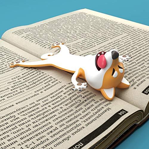 waterfaill Lesezeichen, 3D Stereo Lesezeichen, Neuheit Panda/Hund Tier Kreative Lesezeichen, Stereo Cute Funny Lesezeichen