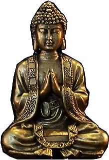Zen Light Buda meditación Dorada Figura Decorativa, Resina