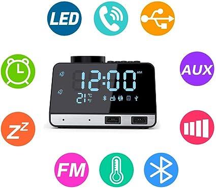 Flightbird Bluetooth Despertador Radio, FM 4.2 Pulgadas
