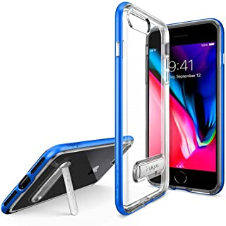 Crystal Clear Cover for iPhone Plus 7/8 With Magnetic Kickstand Transparent Protection Case, Blue