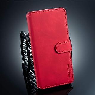 Móvil Caja del teléfono Retro de Aceite del Lado del Giro Horizontal Funda Protectora for el Huawei P30 Pro con el sosten...