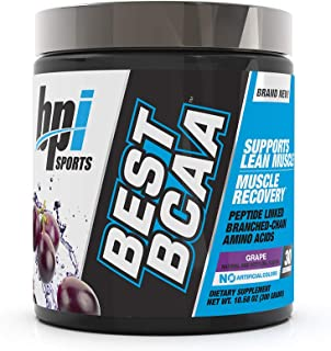 BPI Sports Best BCAA - BCAA Powder - Branched Chain Amino Acids - Muscle Recovery - Muscle Protein Synthesis - Lean Muscle - Improved Performance – Hydration – Grape - 30 Servings - 10.58 oz.