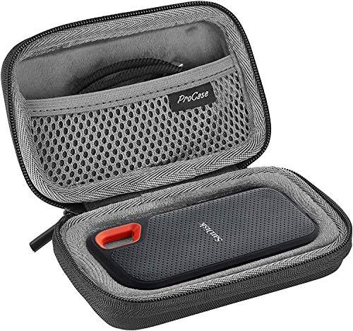 ProCase Custodia Rigida per SanDisk Extreme SSD Portatile 500GB/ 1TB/250GB/2TB, Custodia da Viaggio per SanDisk Extreme SSD Portatile -Nero