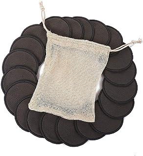 Blanc Coton Demaquillant Lavable,CAITOU Tissu D/éMaquillant R/éUtilisable Microfibre Molle /à Double Face Eponges Et Lingettes D/éMaquillantes Et Nettoyantes Visage Coton Tige Bambou