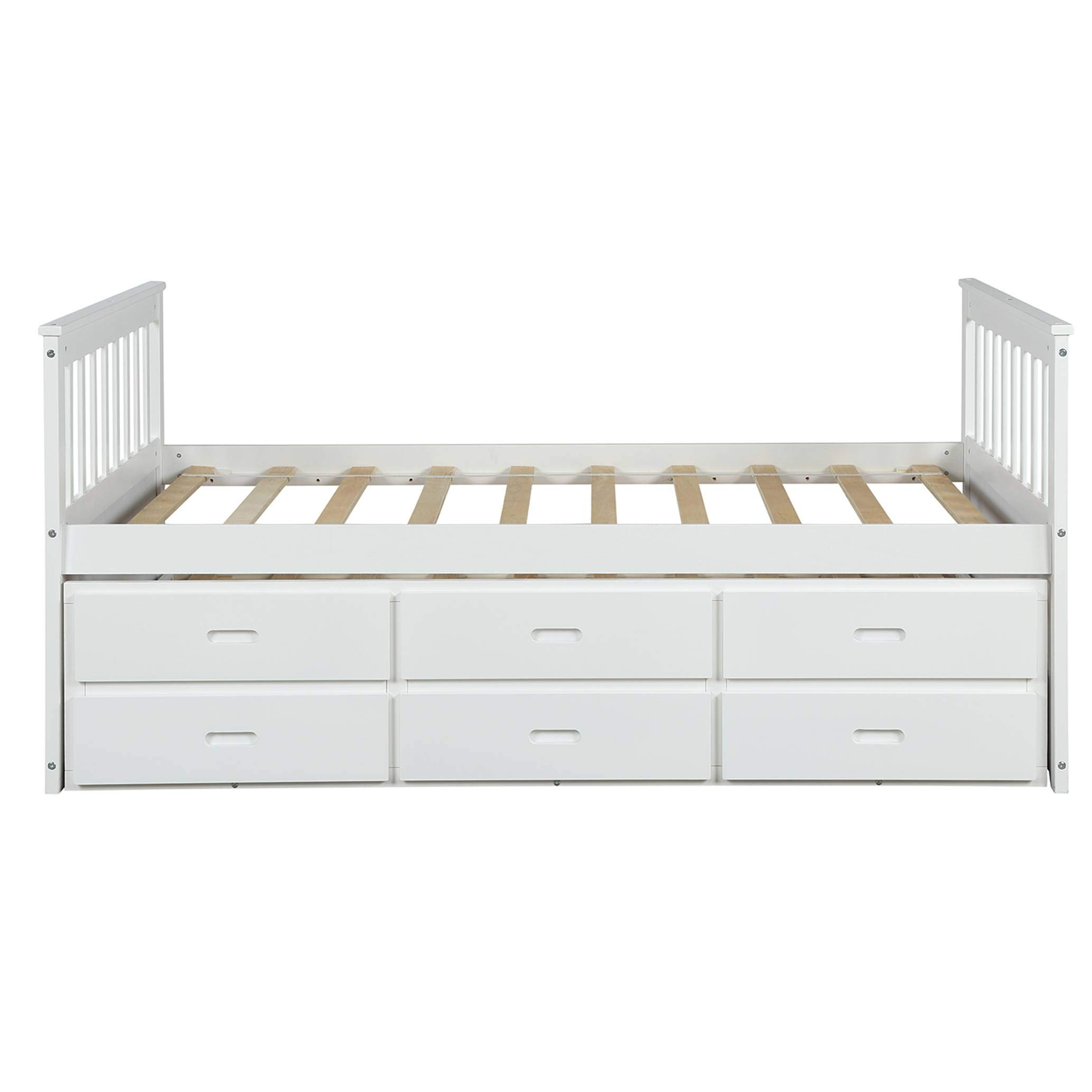 Bedstead Captain Solid Trundle Drawers