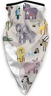 Outline Africa Animals 3D Balaclava Ski Mask Motorcycle Helmets Liner Neck Gaiter Quick Dry Half Masks