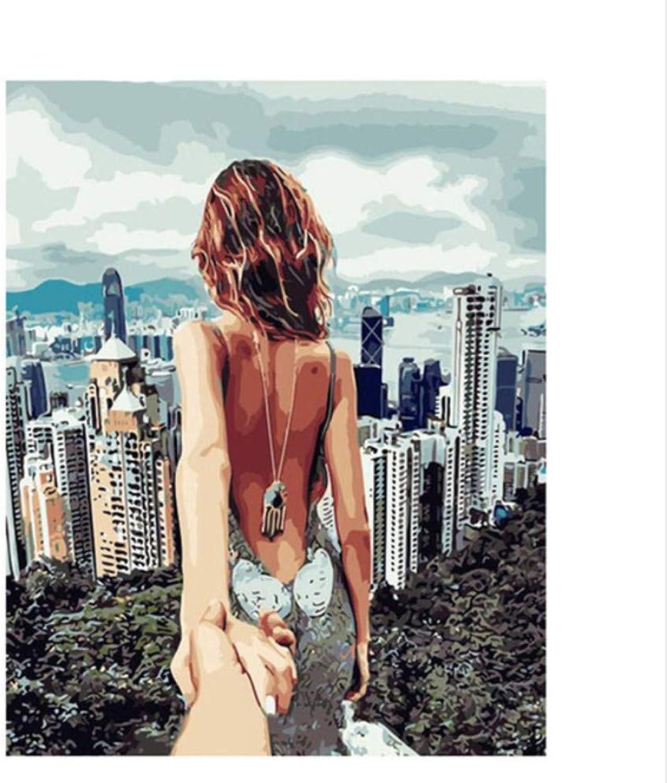 CZYYOU DIY Digital Malen Malen Malen Nach Zahlen Streben Nach Nackten Ölgemälde Wandgemälde Kits Färbung Wandkunst Bild Geschenk - Ohne Rahmen - 40x50cm B07PSH65NQ | Verrückte Preis  e29751