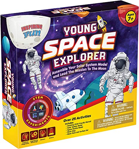 phaiser Inspiring Fun Young Space Explorer Kit - Assemble The Solar System Model and Lead The Mission to The Moon Toolkit - Science Experiment Learning Set - Perfect Present for Children Aged 7+ -  explorerkit1-1