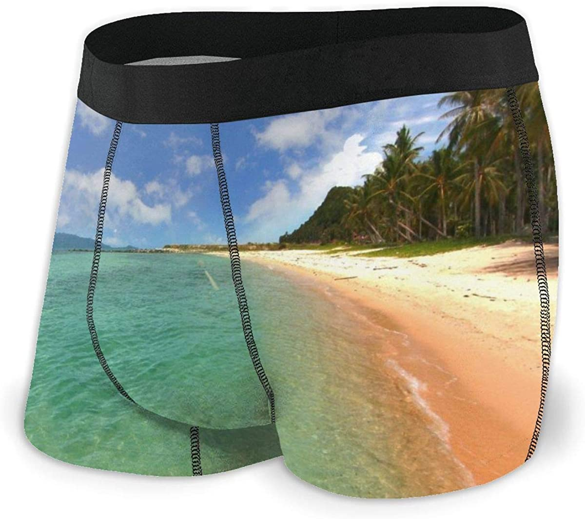 Mens Boxer Briefs Marvellous Paradise Island Beautiful Breathable Underwear