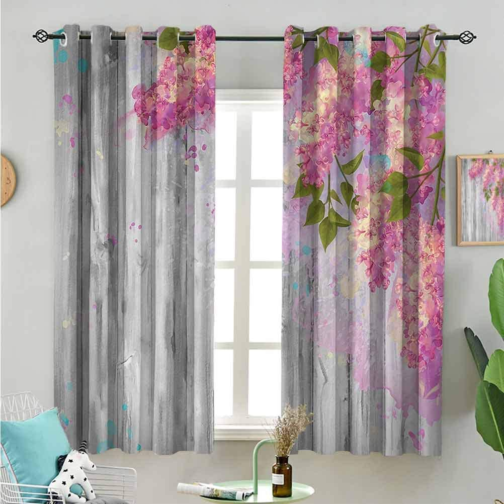 CRICKOOM Over item handling Window Treatment Curtains Watercolor Decor trend rank Floral Style