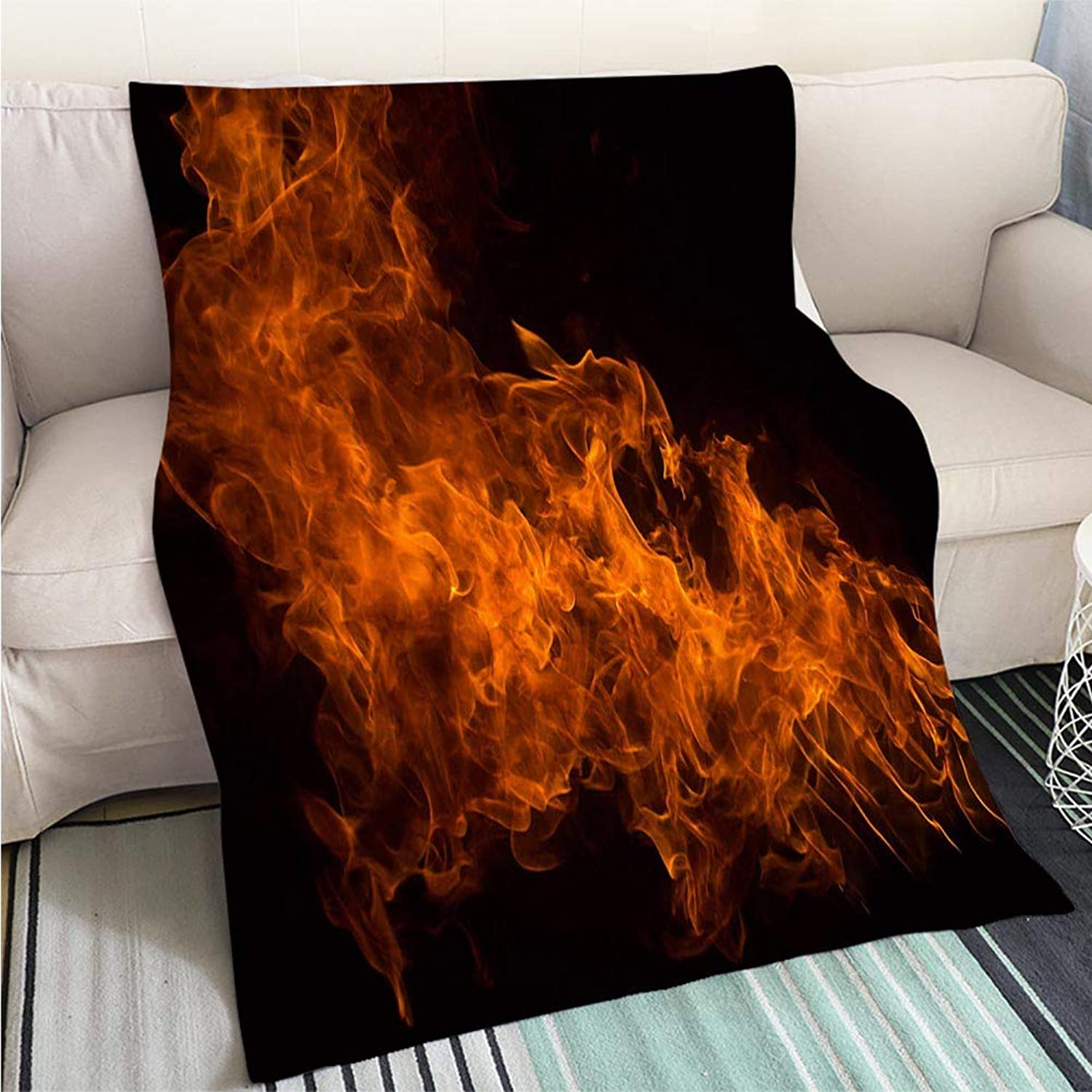 BEICICI Art Design Photos Cool Quilt Fire Flames Sofa Bed or Bed 3D Printing Cool Quilt