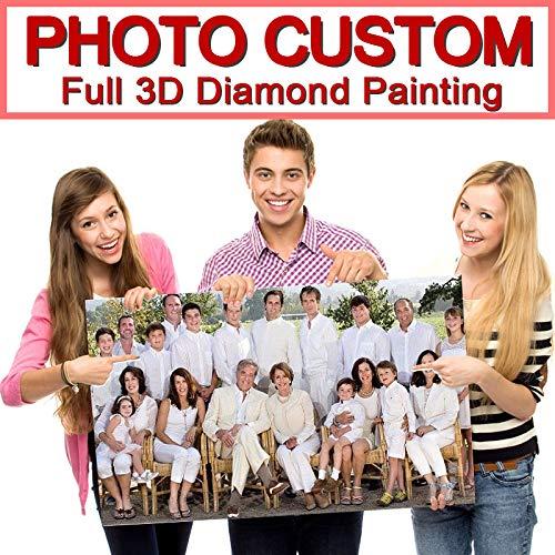 5D DIY Diamant Schilderij! Privé Custom! Foto Aangepast! Maak je eigen diamant schilderij volledige boor diamant strass borduurwerk 20cmx30cm