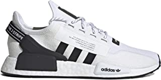 adidas Men's NMD R1 V2 Casual Shoes (9.5, White/Core Black/White)