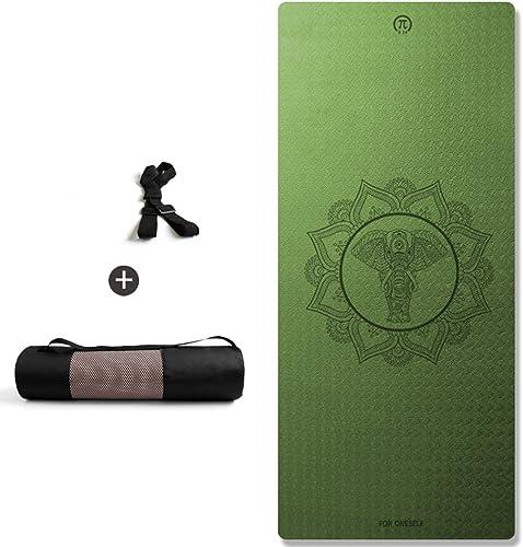 JCCOZ Tapis de Yoga, Widen Thicken Insipide Tapis d'exercice débutant Tapis de Fitness antidérapant Tapis de Yoga (Couleur    2, Taille   Thickness 8mm)