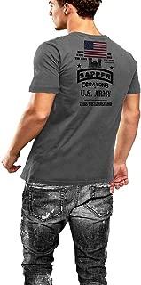 Warface Apparel Army Combat Engineer Sapper T-Shirt US Flag 2 Sided Print
