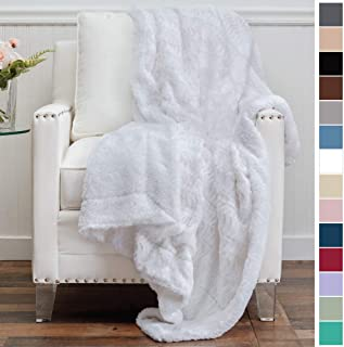 Best white faux fur throw blanket Reviews