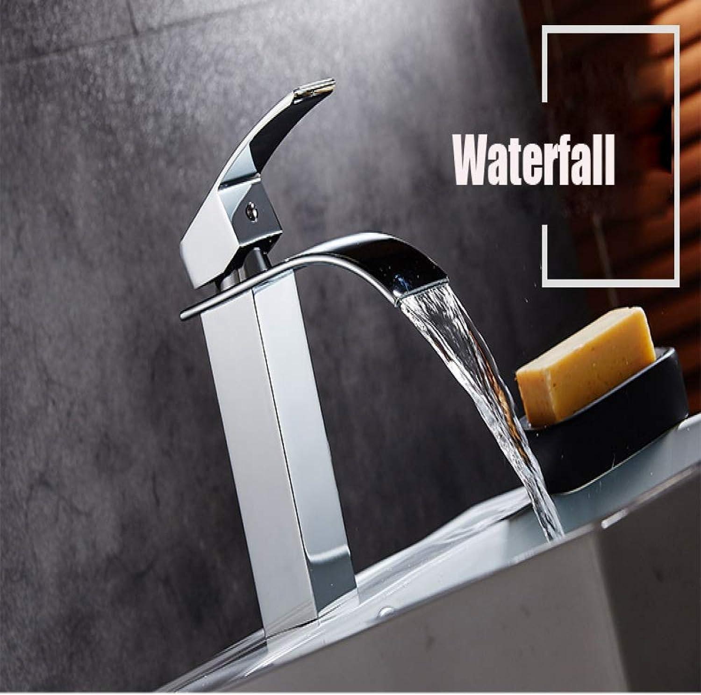 MALIAO Deck Mount Wasserfall Bad Wasserhahn Vanity Vessel Sinks Mischbatterie Kalt- und Warmwasserhahn