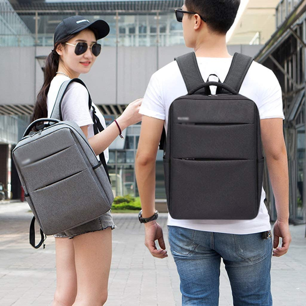 Color : Gray School Backpack Trend Mens Backpack Simple Casual Female Student Bag Travel Study Bag Boy and Girl Backpack