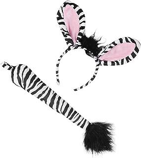 Zebra Costume Set - Animal Costumes Zebra Headband & Tail