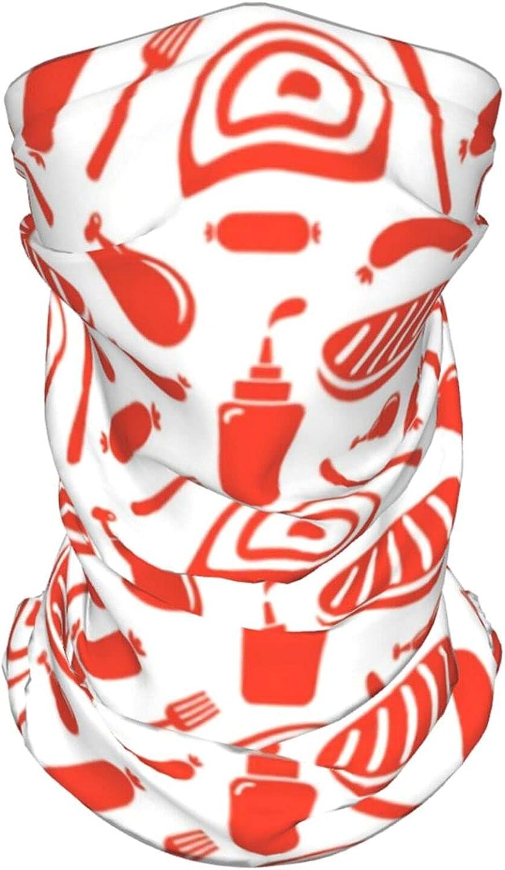 Hand Drawn Koi Fish 1 Neck Gaiter Multipurpose Headwear Ice Silk Mask Scarf Summer Cool Breathable Outdoor Sport 4 Pcs