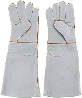 FLAMEER 全3種 ペット用グローブ 保護手袋 腕全体保護 咬合防止 訓練 アンチスクラッチ 超耐摩耗 - グレー‐約50cm