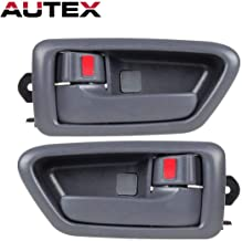 AUTEX 2 Pcs Gray Interior Front/Rear Left Right Side Door Handle Driver Passenger Side Compatible with Toyota Camry 1997 1998 1999 2000 2001 Door Handle 91002 91006 91003 91007 6927733020B0