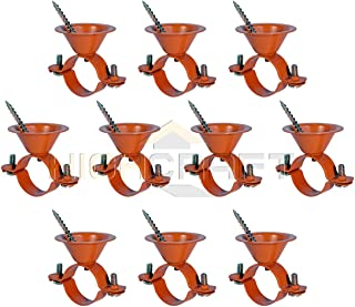 Highcraft HBE-CP12-10 Bell Hanger Copper Coated Steel, 1/2 in. 10 Pack