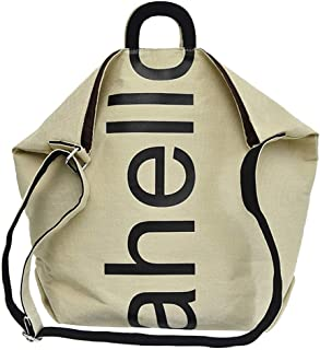 Wultia - Women Canvas Fresh Causal Fashion Letter Messenger Shoulder Bag Hand Travel Bag Bolsa Feminina Khaki