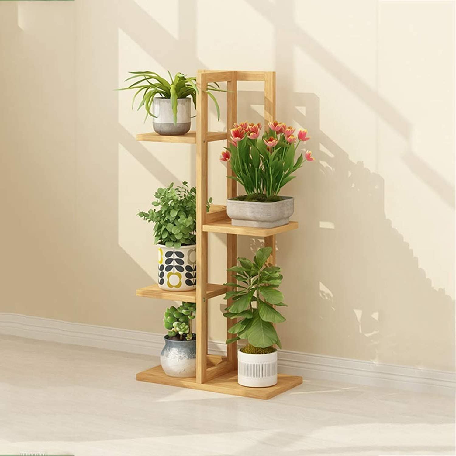 Flower racks - Bamboo Flower Stand Floor Storage Rack Multi-Layer Indoor Balcony Decoration Pot Rack Plant Shelf 40×20×102 125 145cm (Size   40  20  102cm)