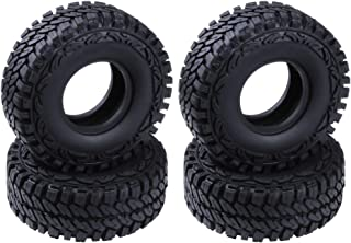 Hobbypark 1.9 inch Tires OD 114mm for 1/10 RC Rock Crawler Traxxas TRX4 Axial Redcat Gen7 SCX10 Tamiya CC01 RC4WD D90 Tyres(4-Pack) (Type 1)
