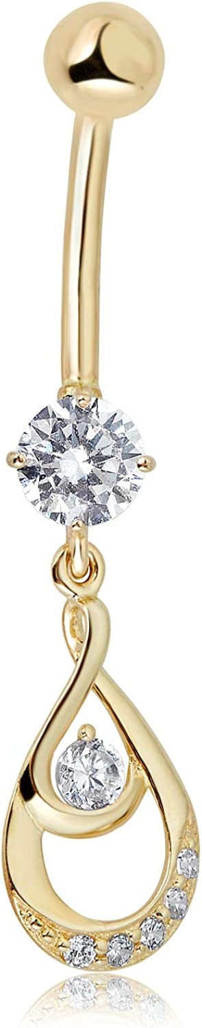 AVORA 10K Yellow Gold Discount is also underway Simulated Diamond In a popularity CZ Fancy B Dangling Drop