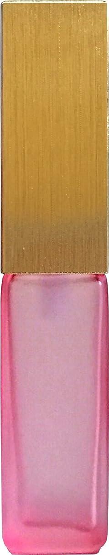 シルクホールドオール加入16495グラス?四角?ピンク?ゴールドキャップ