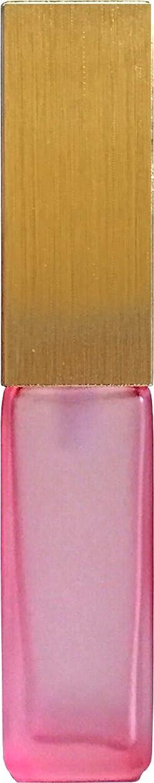 情緒的区画膿瘍16495グラス?四角?ピンク?ゴールドキャップ