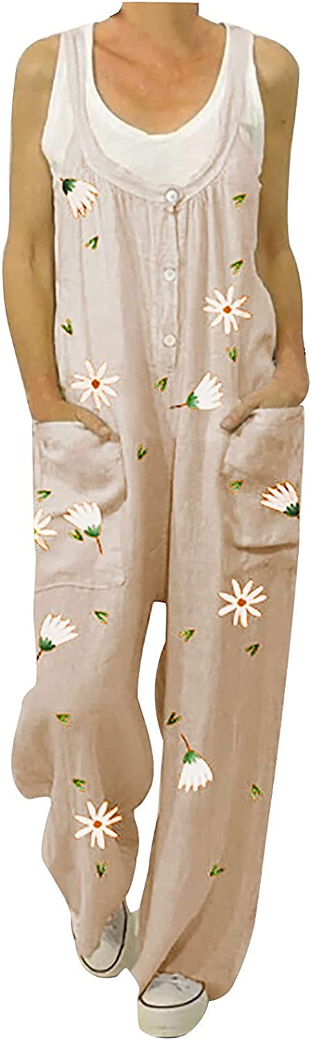 Womens Pants Overalls Rompers Austin Mall Tucson Mall Daisy Ju Buttons Printed Suspender